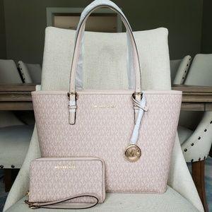 Michael Kors Bag And Wallet Bundle set ballet pink